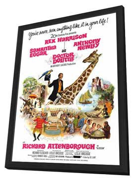 Doctor Dolittle - 11 x 17 Movie Poster - Style B - in Deluxe Wood Frame
