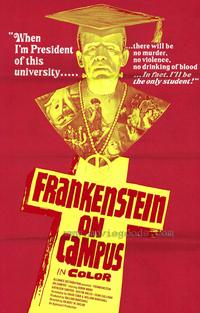Doctor Frankenstein on Campus - 27 x 40 Movie Poster - Style A