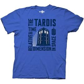 Doctor Who - Time and Relative Dimension In Space Blue T-Shirt