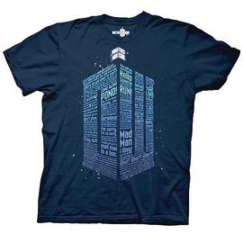 Doctor Who - Logo of Words Navy Blue T-Shirt