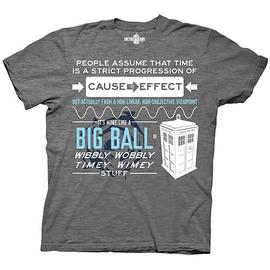 Doctor Who - Wibbly Wobbly Timey Stuff Quote Gray T-Shirt