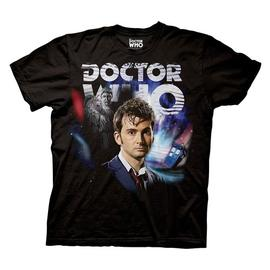 Doctor Who - Tenth Doctor Collage Black T-Shirt