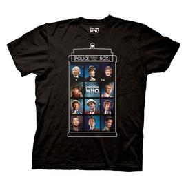Doctor Who - 50 years, 11 Doctors TARDIS Black T-Shirt