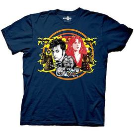 Doctor Who - Tenth Doctor Doctor and Davros Blue T-Shirt