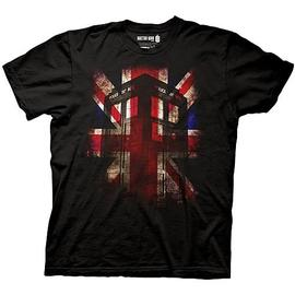 Doctor Who - TARDIS and Union Jack Black T-Shirt