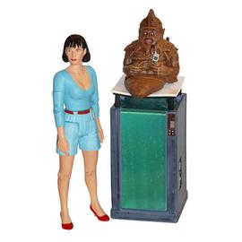 Doctor Who - Peri and Sil with Tank Vengeance on Varos Figures