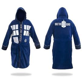 Doctor Who - TARDIS Hooded Blue Cotton Bathrobe