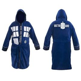 Doctor Who - TARDIS Hooded Blue Cotton Medium Bath Robe