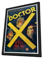 Doctor X - 27 x 40 Movie Poster - Style A - in Deluxe Wood Frame