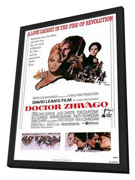 Doctor Zhivago - 27 x 40 Movie Poster - Style A - in Deluxe Wood Frame