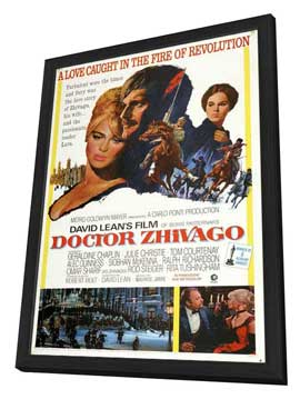 Doctor Zhivago - 27 x 40 Movie Poster - Style B - in Deluxe Wood Frame