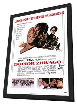 Doctor Zhivago - 11 x 17 Movie Poster - Style A - in Deluxe Wood Frame