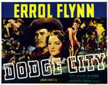 Dodge City - 22 x 28 Movie Poster - Half Sheet Style A