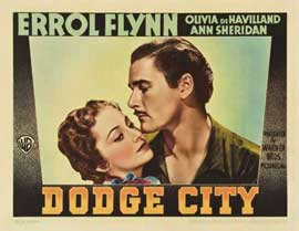 Dodge City - 22 x 28 Movie Poster - Half Sheet Style B