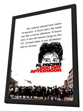 Dog Day Afternoon - 27 x 40 Movie Poster - Style C - in Deluxe Wood Frame