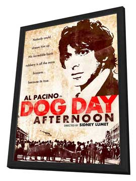 Dog Day Afternoon - 27 x 40 Movie Poster - Style E - in Deluxe Wood Frame