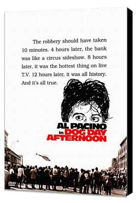 Dog Day Afternoon - 27 x 40 Movie Poster - Style C - Museum Wrapped Canvas