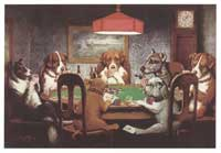 Dogs Playing Poker - 11 x 17 Poster - A Friend in Need