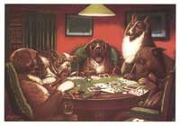 Dogs Playing Poker - 11 x 17 Poster - A Waterloo