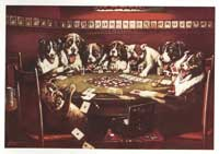 Dogs Playing Poker - 11 x 17 Poster - Poker Sympathy