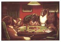 Dogs Playing Poker - 24 x36 Poster - A Bold Bluff