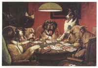 Dogs Playing Poker - 24 x36 Poster - Just A Pair of Deuces