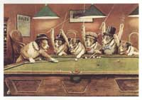 Dogs Playing Poker - 24 x36 Poster - Kelly Pool