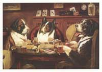 Dogs Playing Poker - 24 x36 Poster - Post Mortem