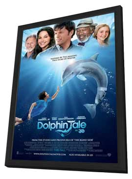 Dolphin Tale - 11 x 17 Movie Poster - Style A - in Deluxe Wood Frame