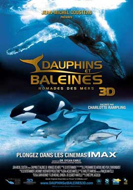 Dolphins and Whales 3D: Tribes of the Ocean - 11 x 17 Movie Poster - French Style A
