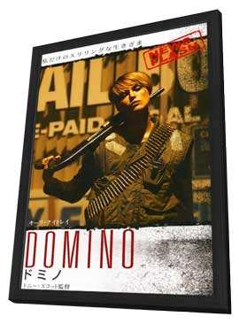 Domino - 11 x 17 Movie Poster - Japanese Style A - in Deluxe Wood Frame