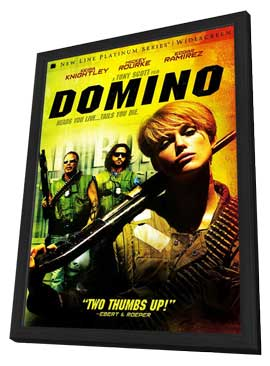 Domino - 27 x 40 Movie Poster - Style B - in Deluxe Wood Frame