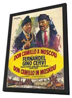 Don Camillo in Moscow - 27 x 40 Movie Poster - Belgian Style A - in Deluxe Wood Frame