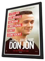 Don Jon - 27 x 40 Movie Poster - Style A - in Deluxe Wood Frame