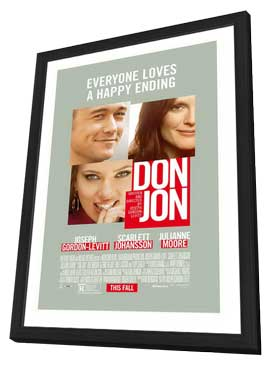 Don Jon - 27 x 40 Movie Poster - Style B - in Deluxe Wood Frame
