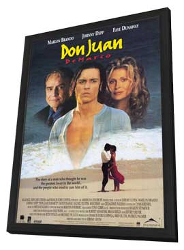Don Juan DeMarco - 11 x 17 Movie Poster - Style B - in Deluxe Wood Frame