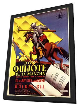 Don Quixote - 11 x 17 Movie Poster - Spanish Style B - in Deluxe Wood Frame