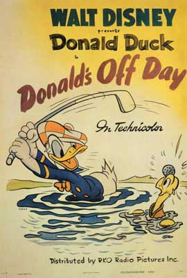 Donald's Off Day - 27 x 40 Movie Poster - Style A