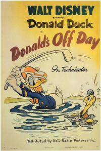 Donald's Off Day - 43 x 62 Movie Poster - Bus Shelter Style A