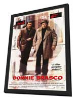 Donnie Brasco - 27 x 40 Movie Poster - Style A - in Deluxe Wood Frame