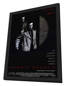 Donnie Brasco - 11 x 17 Movie Poster - Style A - in Deluxe Wood Frame