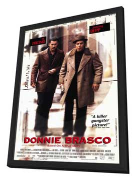 Donnie Brasco - 11 x 17 Movie Poster - Style B - in Deluxe Wood Frame