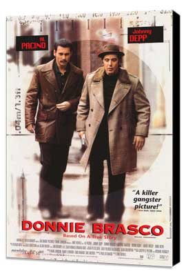 Donnie Brasco - 27 x 40 Movie Poster - Style A - Museum Wrapped Canvas