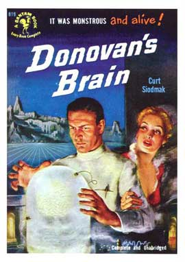 Donovan's Brain - 11 x 17 Retro Book Cover Poster