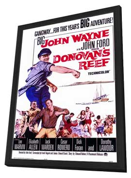 Donovan's Reef - 11 x 17 Movie Poster - Style A - in Deluxe Wood Frame