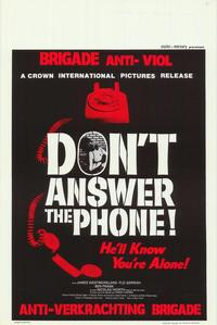 Don't Answer the Phone - 11 x 17 Movie Poster - Belgian Style A