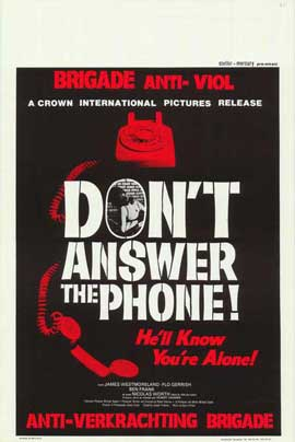 Don't Answer the Phone - 27 x 40 Movie Poster - Belgian Style A