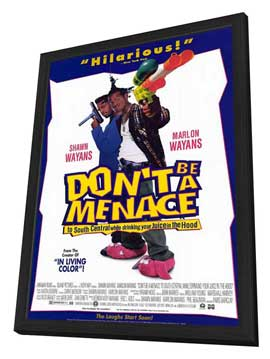 Don't Be a Menace to South Central While Drinking Your Juice in the Hood - 11 x 17 Movie Poster - Style B - in Deluxe Wood Frame