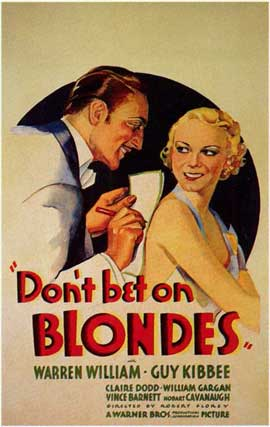 Don't Bet on Blondes - 11 x 17 Movie Poster - Style A