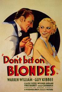 Don't Bet on Blondes - 27 x 40 Movie Poster - Style A